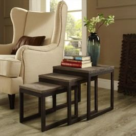 Covert Wood Top Nesting Table in Brown