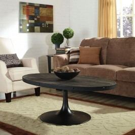 Drive Wood Top Coffee Table in Black