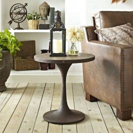 Drive Wood Top Side Table in Brown