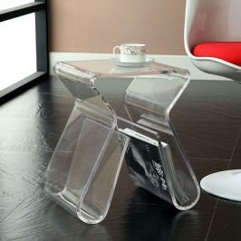 Magazine Acrylic Side Table in Clear