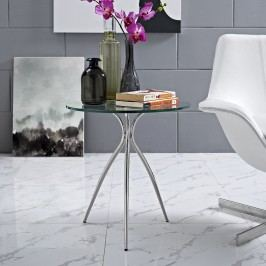 Moxy Glass Top Side Table in Clear