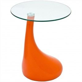 Teardrop Side Table in Orange