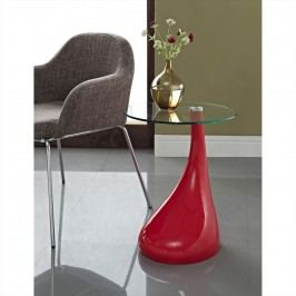 Teardrop Side Table in Red