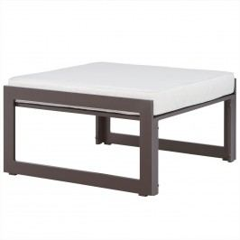 Fortuna Outdoor Patio Ottoman in Brown White