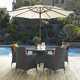 Sojourn 7 Piece Outdoor Patio Sunbrella?? Dining Set in Canvas Tuscan