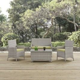 Bridge Outdoor Patio Patio Sectional Set in Light Gray Peridot
