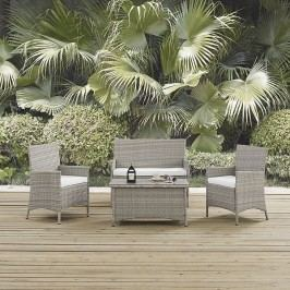 Bridge Outdoor Patio Patio Sectional Set in Light Gray White