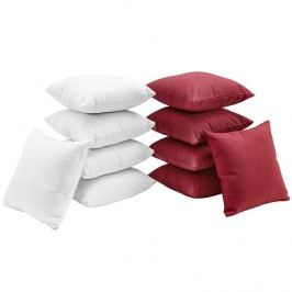 Gather Ten Piece Pillow Set in White Red