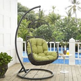 Arbor Outdoor Patio Wood Swing Chair in Peridot