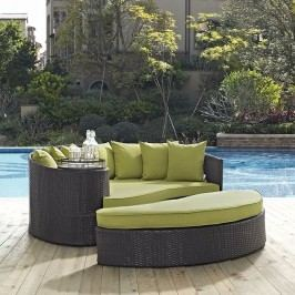 Convene Outdoor Patio Daybed in Espresso Peridot