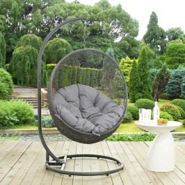 Hide Outdoor Patio Swing Chair in Gray
