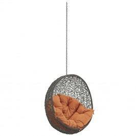 Hide Outdoor Patio Swing Chair Without Stand in Gray Orange