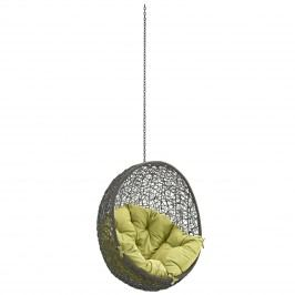 Hide Outdoor Patio Swing Chair Without Stand in Gray Peridot