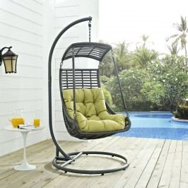 Jungle Outdoor Patio Swing Chair in Peridot