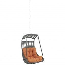 Jungle Outdoor Patio Swing Chair Without Stand in Orange