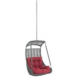 Jungle Outdoor Patio Swing Chair Without Stand in Red