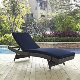 Sojourn Outdoor Patio Sunbrella?? Chaise in Canvas Navy