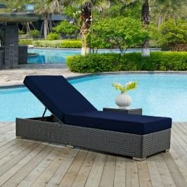 Sojourn Outdoor Patio Sunbrella?? Chaise Lounge in Canvas Navy