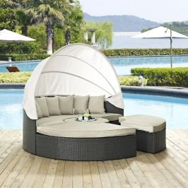 Sojourn Outdoor Patio Sunbrella?? Daybed in Antique Canvas Beige