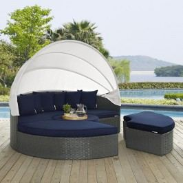 Sojourn Outdoor Patio Sunbrella?? Daybed in Canvas Navy