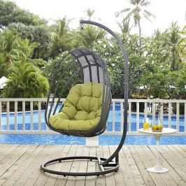 Whisk Outdoor Patio Swing Chair in Peridot