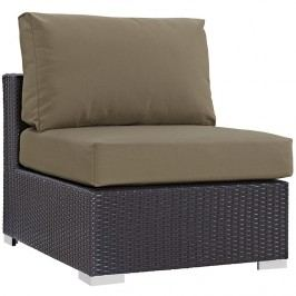 Convene Outdoor Patio Armless in Espresso Mocha
