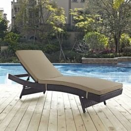Convene Outdoor Patio Chaise in Espresso Mocha