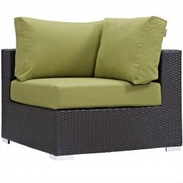 Convene Outdoor Patio Corner in Espresso Peridot