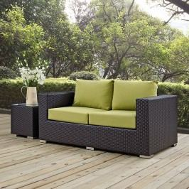 Convene Outdoor Patio Loveseat in Espresso Peridot