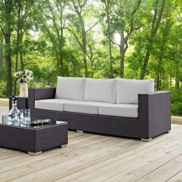 Convene Outdoor Patio Sofa in Espresso White