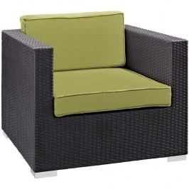 Gather Outdoor Patio Armchair in Espresso Peridot