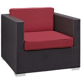 Gather Outdoor Patio Armchair in Espresso Red