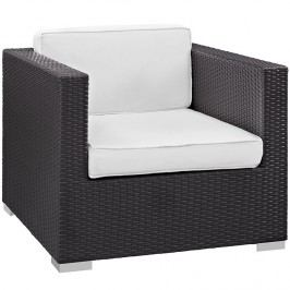 Gather Outdoor Patio Armchair in Espresso White