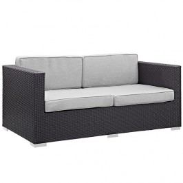Gather Outdoor Patio Loveseat in Espresso Gray