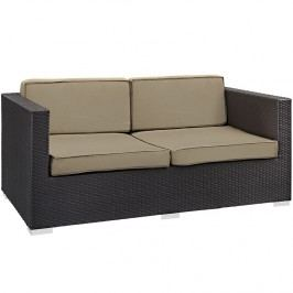 Gather Outdoor Patio Loveseat in Espresso Mocha