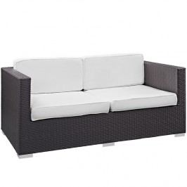 Gather Outdoor Patio Loveseat in Espresso White