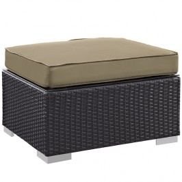 Gather Outdoor Patio Ottoman in Espresso Mocha