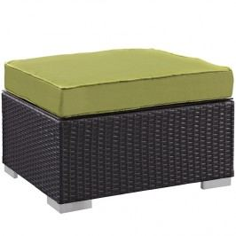 Gather Outdoor Patio Ottoman in Espresso Peridot