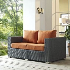 Sojourn Outdoor Patio Sunbrella?? Loveseat in Canvas Tuscan