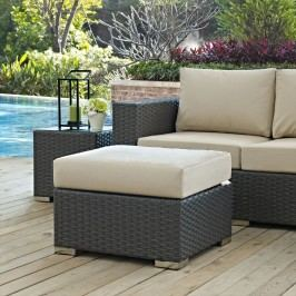 Sojourn Outdoor Patio Sunbrella?? Ottoman in Canvas Antique Beige