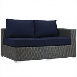 Sojourn Outdoor Patio Sunbrella?? Right Arm Loveseat in Canvas Navy