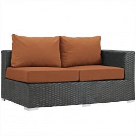 Sojourn Outdoor Patio Sunbrella?? Right Arm Loveseat in Canvas Tuscan
