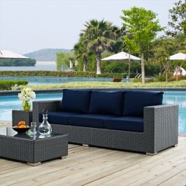 Sojourn Outdoor Patio Sunbrella?? Sofa in Canvas Navy