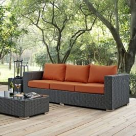Sojourn Outdoor Patio Sunbrella?? Sofa in Canvas Tuscan