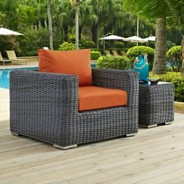 Summon Outdoor Patio Fabric Sunbrella?? Armchair in Canvas Tuscan
