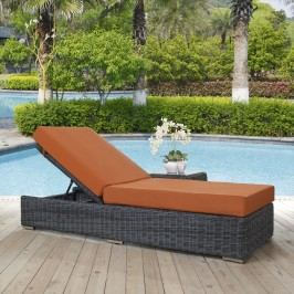 Summon Outdoor Patio Sunbrella?? Chaise Lounge in Canvas Tuscan
