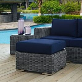 Summon Outdoor Patio Sunbrella?? Ottoman in Canvas Navy