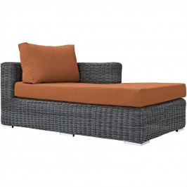 Summon Outdoor Patio Sunbrella?? Right Arm Chaise in Canvas Tuscan