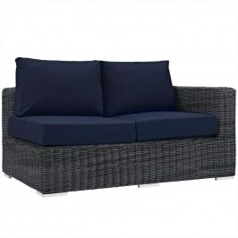 Summon Outdoor Patio Sunbrella?? Right Arm Loveseat in Canvas Navy