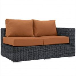 Summon Outdoor Patio Sunbrella?? Right Arm Loveseat in Canvas Tuscan